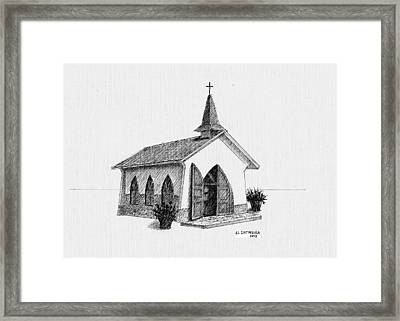 Alto Vista Chapel - Aruba Framed Print