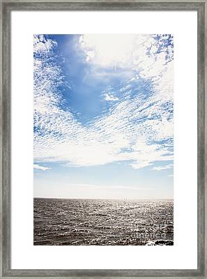 Altocumulus At Sea Framed Print