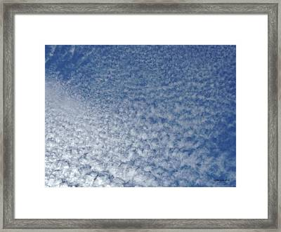 Framed Print featuring the photograph Altocumulus Clouds by Jason Williamson