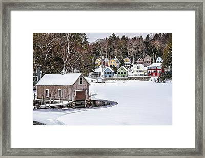 Alton Bay Framed Print by Robert Clifford