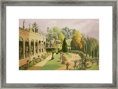 Alton Gardens Framed Print by E Adveno Brooke
