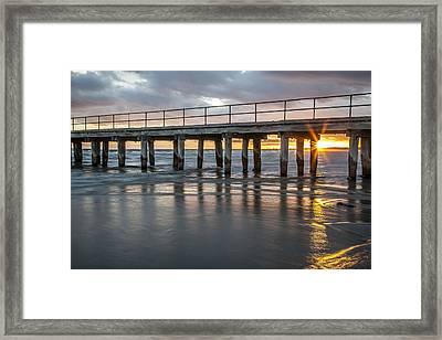Altona Pier In Color Framed Print by Shari Mattox