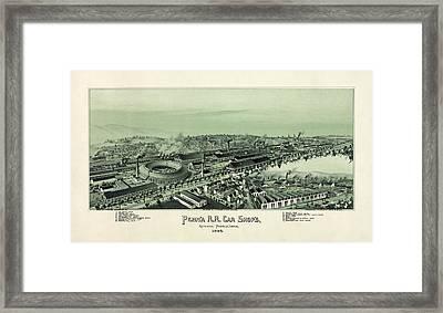 Altoona Pennsylvania In 1895 Framed Print