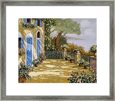 Altre Porte Blu Framed Print by Guido Borelli