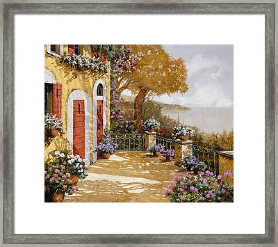 Altre Porte Rosse Framed Print by Guido Borelli
