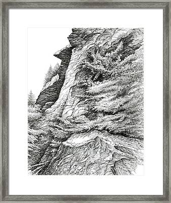 Alum Bluff Trail Crag Framed Print by Bob  George