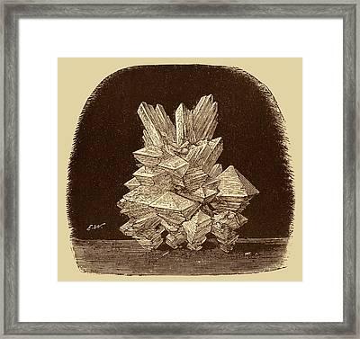 Alum Crystals Illustration. Framed Print