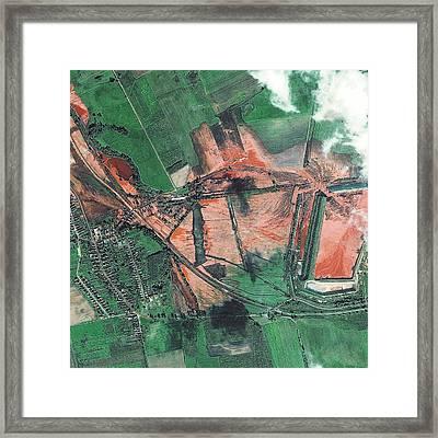 Alumina Sludge Spill Framed Print by Digital Globe