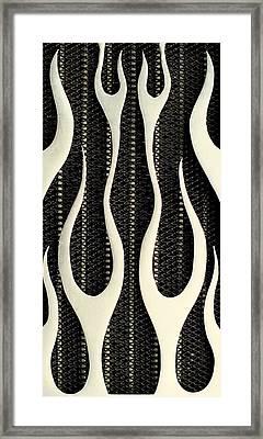 Aluminium Flames Framed Print