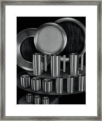 Aluminum Tableware Framed Print by Martinus Andersen