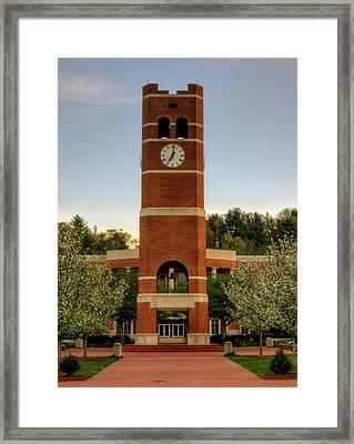 Alumni Clock Tower At Wcu Framed Print
