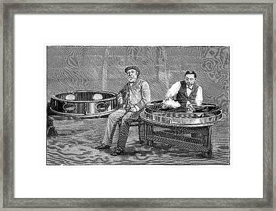 Alvan Clark And Yerkes 40-inch Lens Framed Print by Science Photo Library