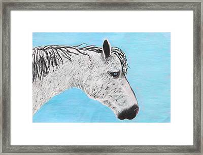 Framed Print featuring the painting Alvaro Stallion by Jeanne Fischer