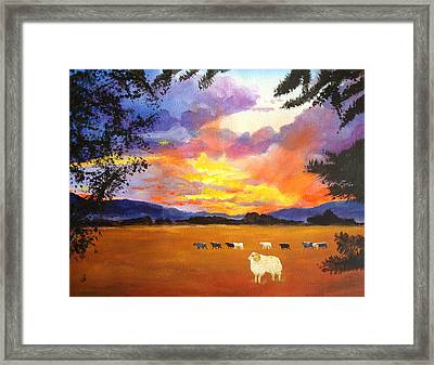 Alvin Counting Sheep Framed Print