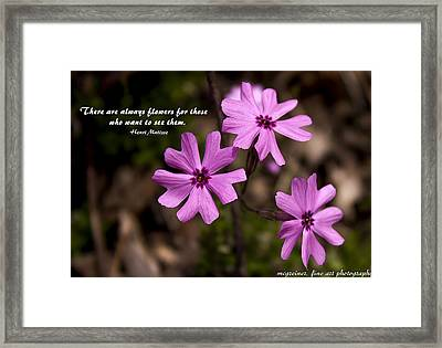 Always Flowers Framed Print by Marilyn Carlyle Greiner