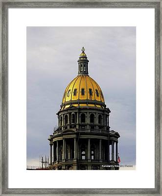 Always Gold At The Top Framed Print by Misty Herrick
