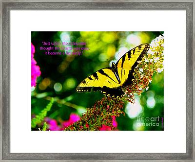 Always Hope - Butterfly Framed Print