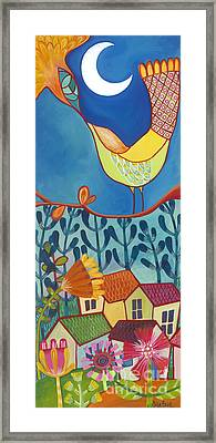 Framed Print featuring the painting Always Kiss Me Good Night by Carla Bank