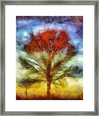 Framed Print featuring the drawing Always Reaching Up by Joe Misrasi