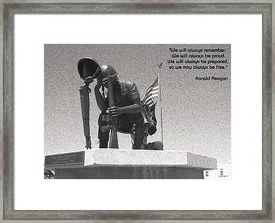 Always Remember Framed Print
