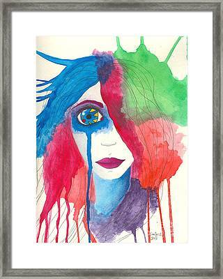 Always The Clown Framed Print by Emily Alexander