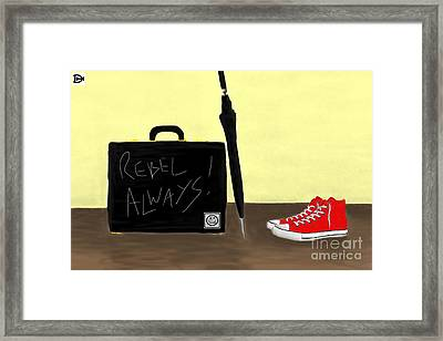Always...rebel.... Framed Print