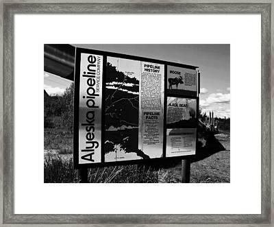 Alyeska Pipeline Framed Print by Juergen Weiss