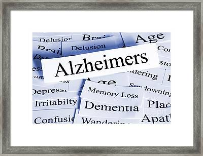 Alzheimers Concept Horizontal Framed Print