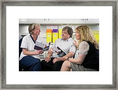 Alzheimer's Consultation Framed Print