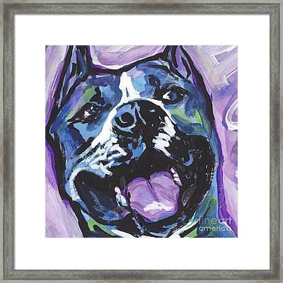 Am A Staff Framed Print by Lea S