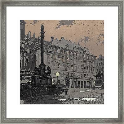 Am Hof Vienna 1904 Framed Print