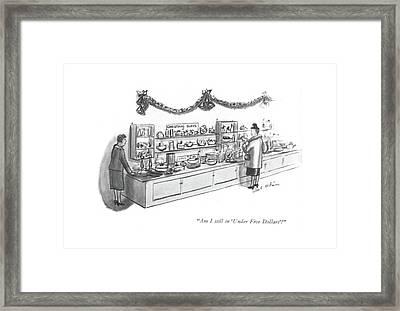 Am I Still In 'under Five Dollars'? Framed Print by Helen E. Hokinson