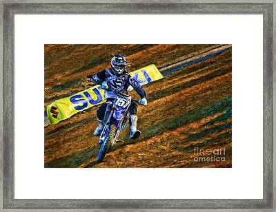 Ama 250sx Supercross Aaron Plessinger Framed Print