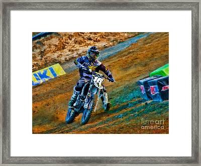 Ama 250sx Supercross Zach Osborne  Framed Print by Blake Richards