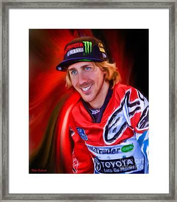 Ama 450 Supercross Justin Barcia Framed Print by Blake Richards