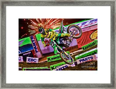 Ama 450sx Supercross Chad Reed Framed Print by Blake Richards