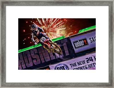 Ama 450sx Supercross Cole Seely Framed Print by Blake Richards