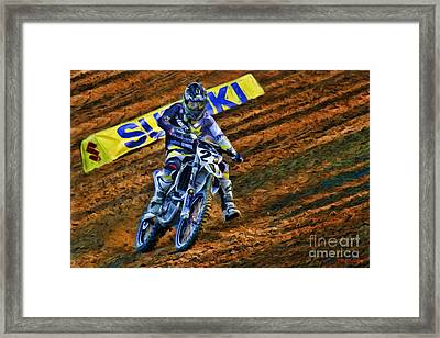 Ama 450sx Supercross Jason Anderson Framed Print by Blake Richards