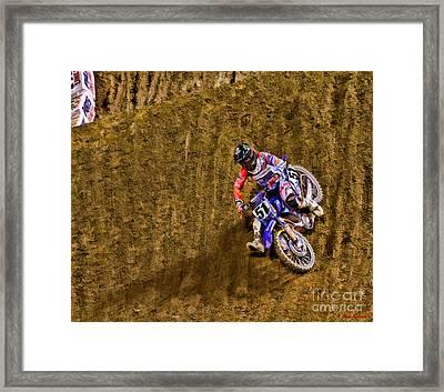 Ama 450sx Supercross Justin Barcia Framed Print by Blake Richards