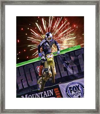 Ama 450sx Supercross Ken Roczen Framed Print by Blake Richards