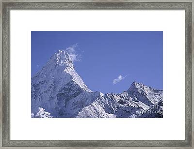 Framed Print featuring the photograph Ama Dablam Nepal by Rudi Prott