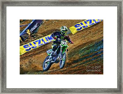 Ama Supercross Tyler Bowers Framed Print by Blake Richards