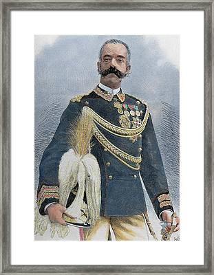 Amadeo I (turin, 1845-turin, 1890 Framed Print by Prisma Archivo