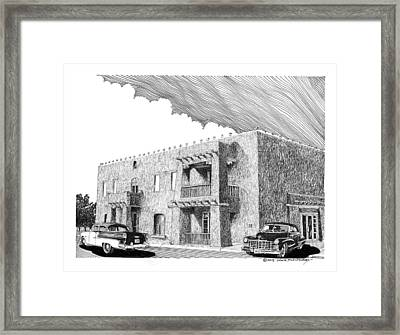 Amador Hotel In Las Cruces N M Framed Print