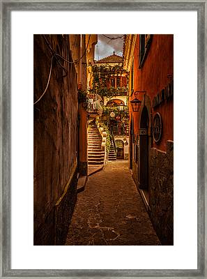 Amalfi Alleyway Framed Print