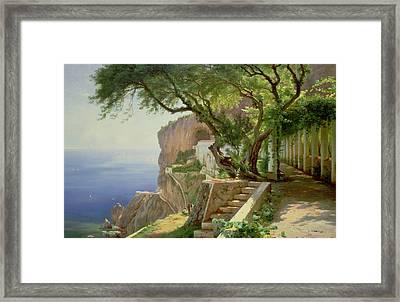 Amalfi Framed Print by Carl Frederick Aagaard