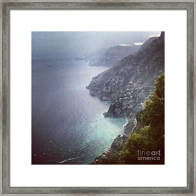 Amalfi Coast And Beyond Framed Print by H Hoffman