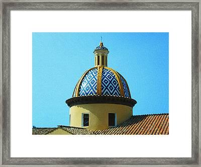 Amalfi Coast Church Italy  Framed Print by Irina Sztukowski