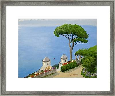 Amalfi Coast From Ravello Framed Print by Mike Robles