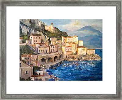 Amalfi Coast Highway Framed Print